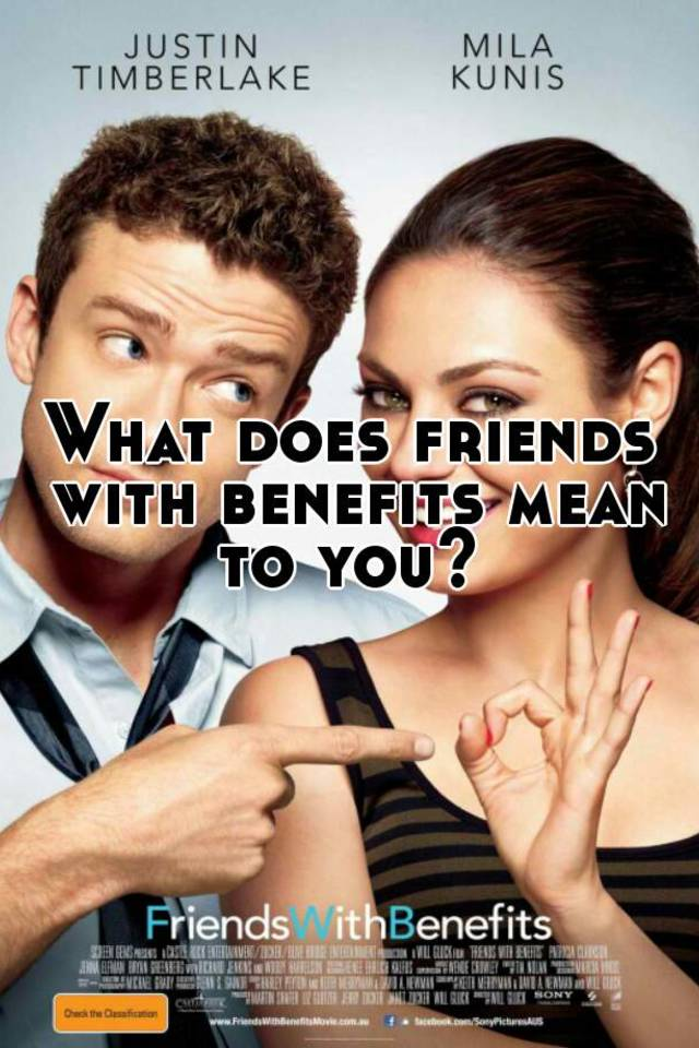 What does friends with benefit means