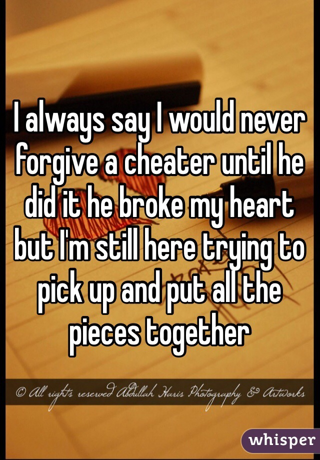 Trying to forgive a cheater