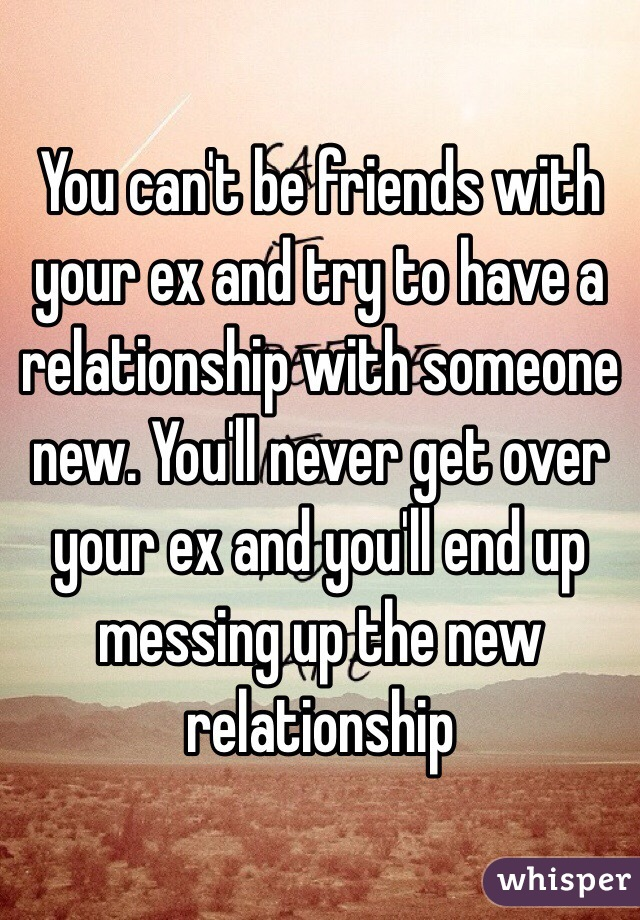 Can t get over your ex