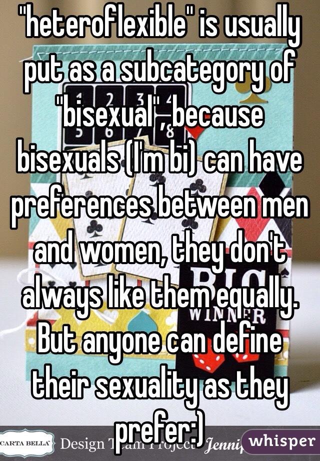 Heteroflexible vs bisexual