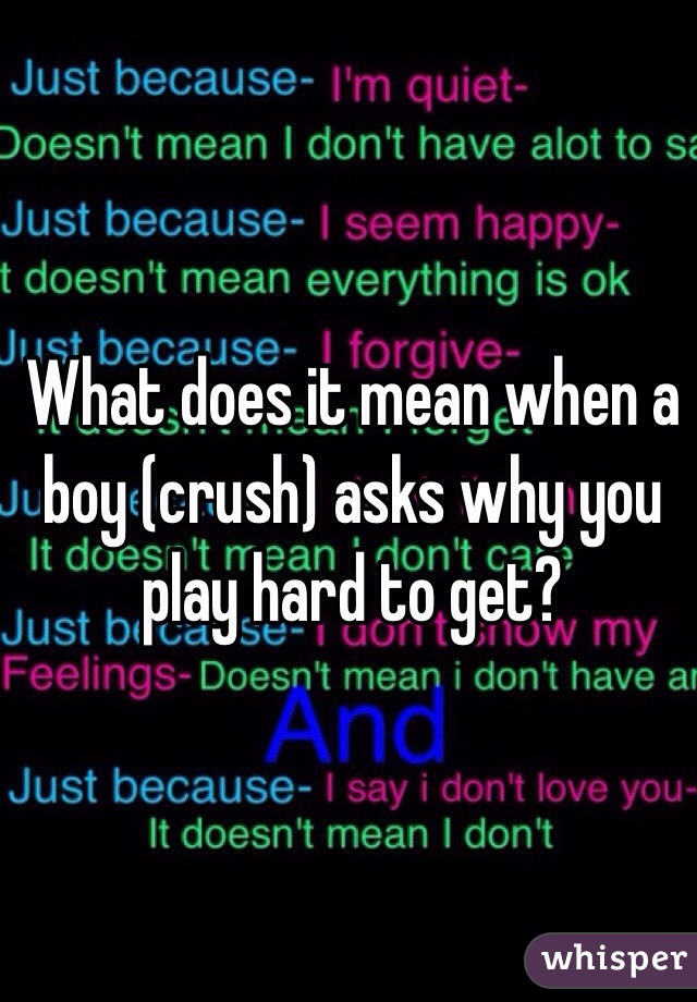 What does play hard mean