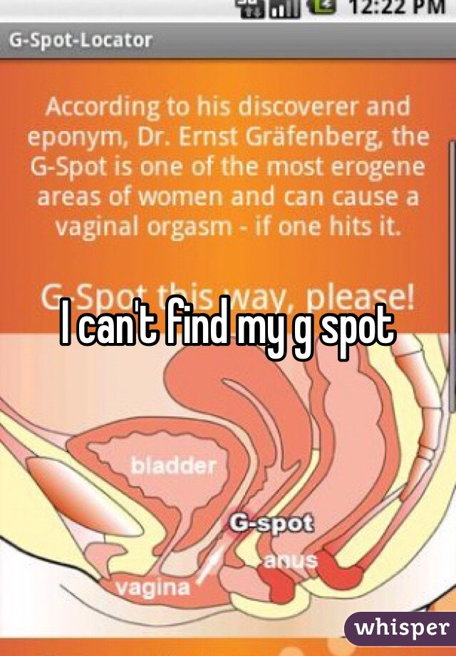 I cant find my g spot