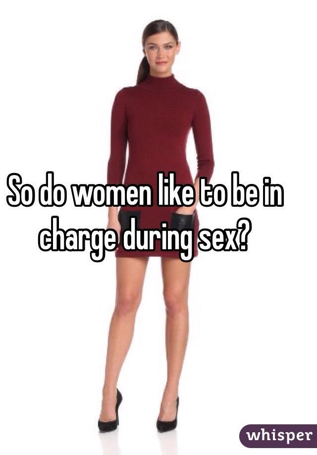 Wemen in charge of sex
