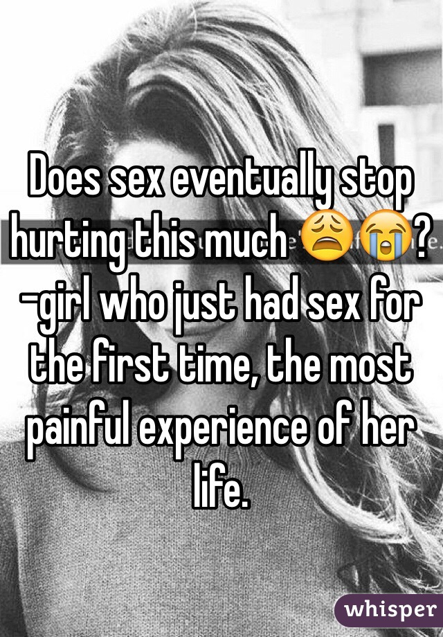 How much does sex hurt