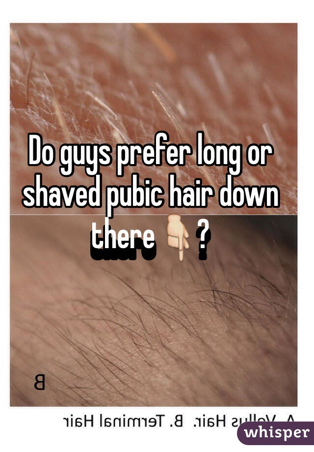 What do guys prefer down there