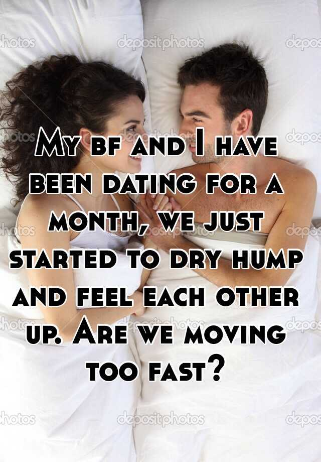 Are we moving too fast dating