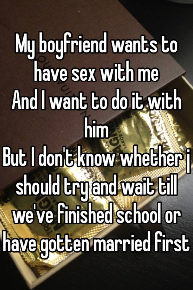My boyfriends mom wants to have sex with me