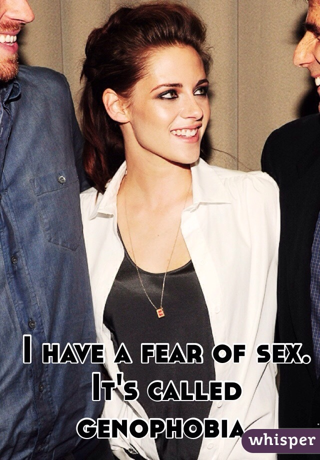 What is fear of sex called