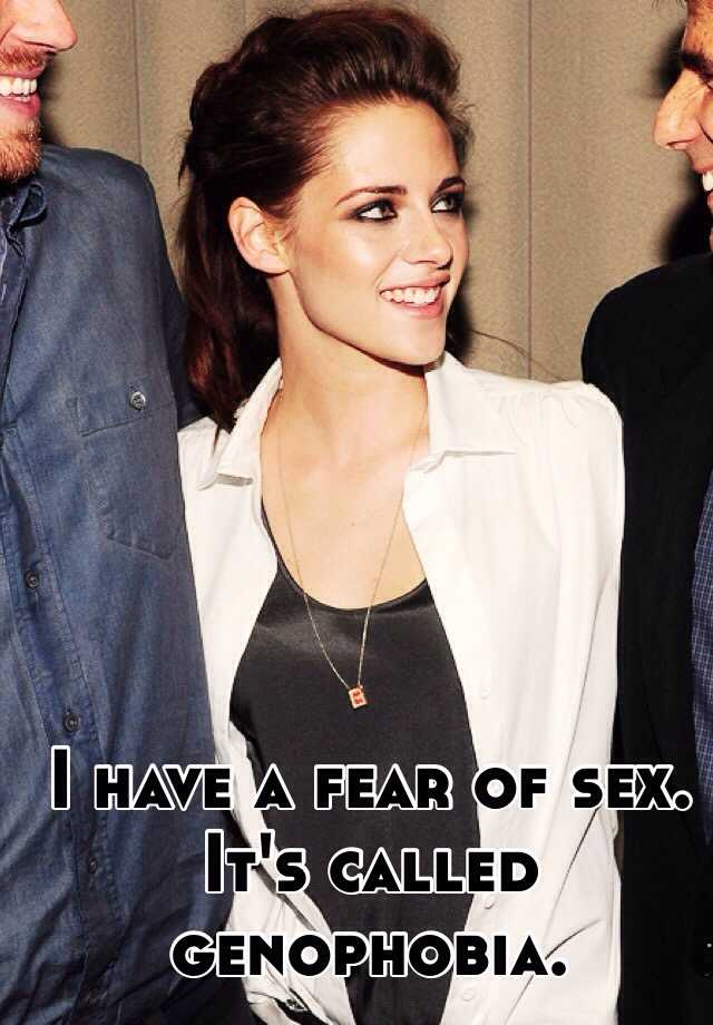 Fear of sex is called