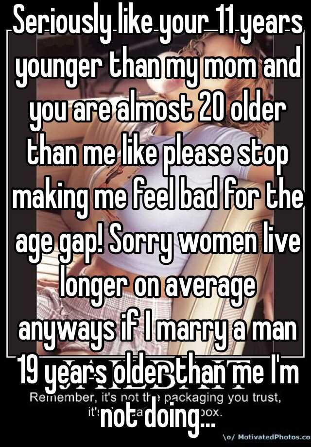 Dating a woman 20 years older than me