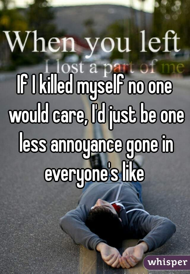 Nobody would care if i killed myself