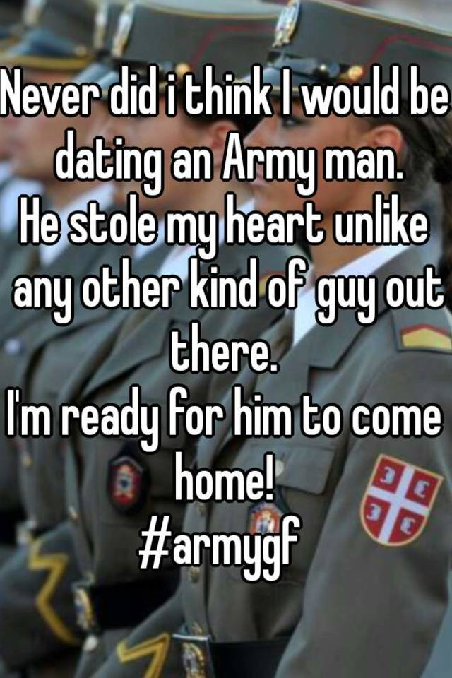 dating a army man