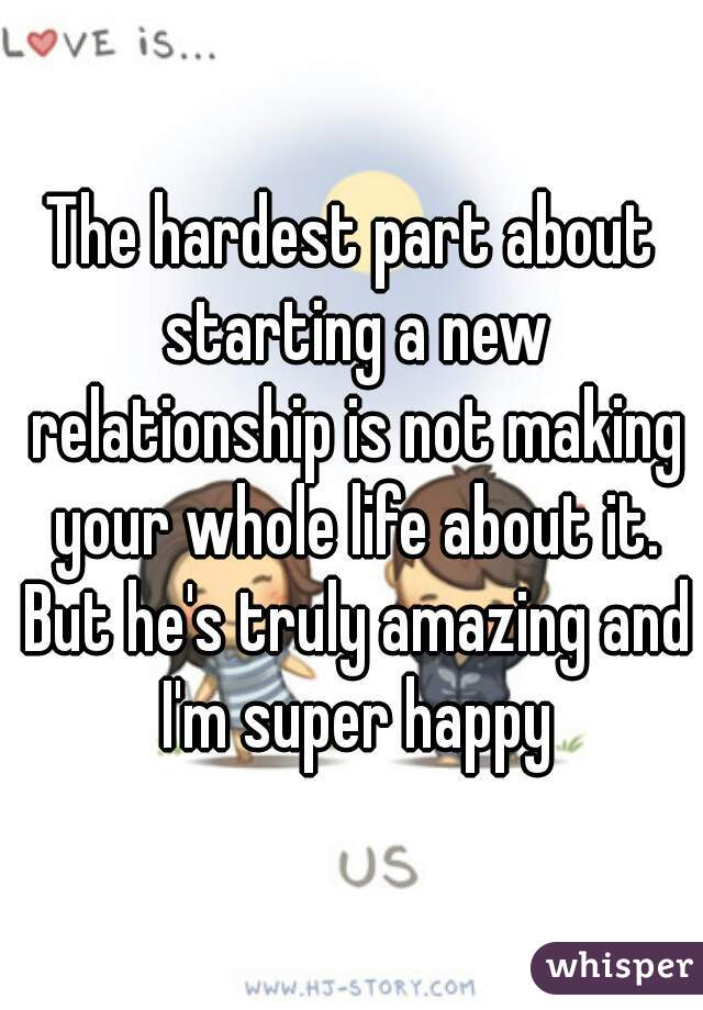 starting a new relationship with a man