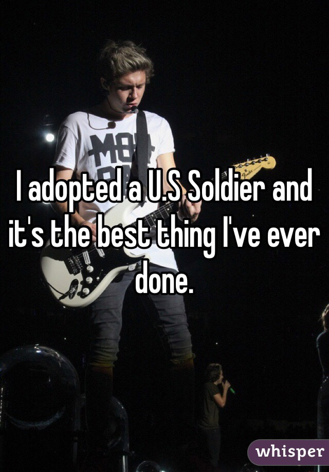 I adopted a U.S Soldier and it's the best thing I've ever done.