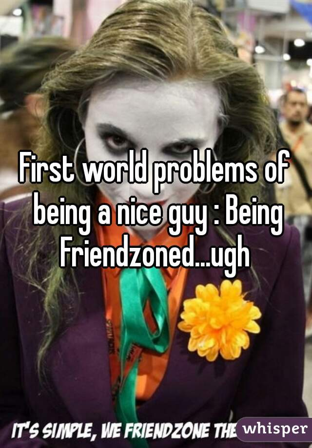 First world problems of being a nice guy : Being Friendzoned...ugh