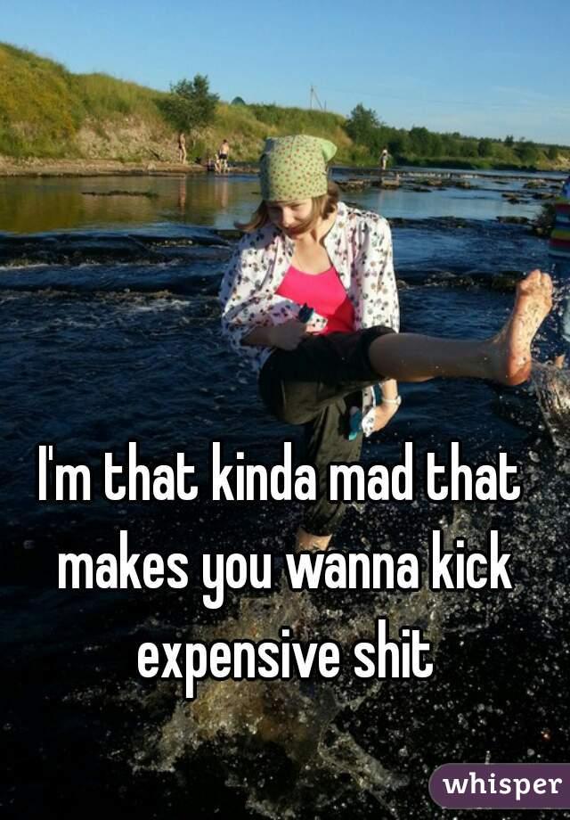 I'm that kinda mad that makes you wanna kick expensive shit
