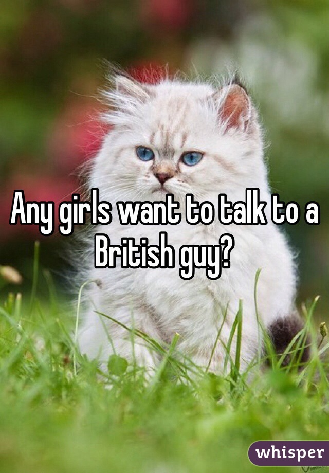 Any girls want to talk to a British guy?