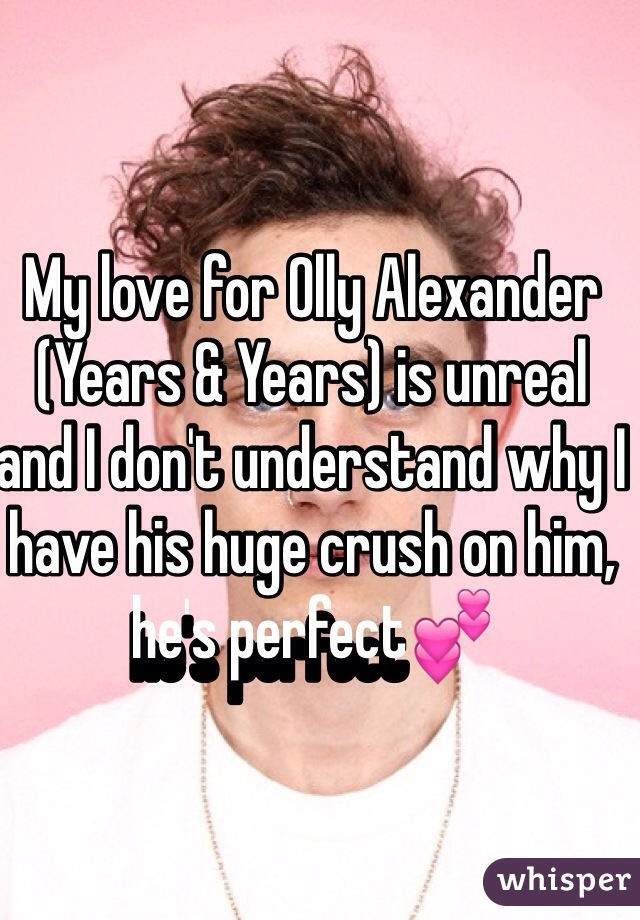 My love for Olly Alexander (Years & Years) is unreal and I don't understand why I have his huge crush on him, he's perfect💕