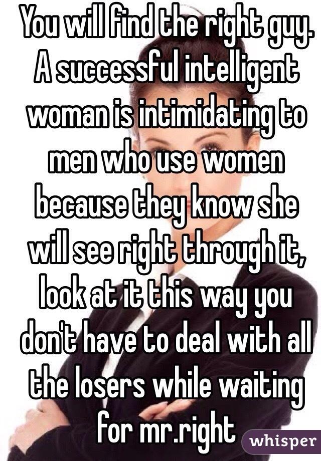 Intelligent woman intimidating
