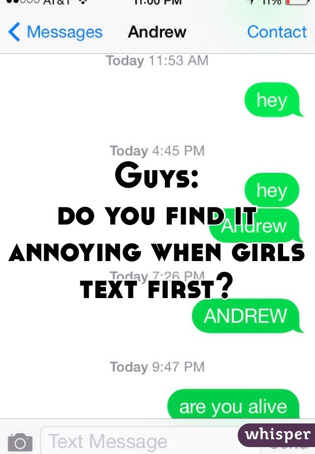 if a girl texts you first