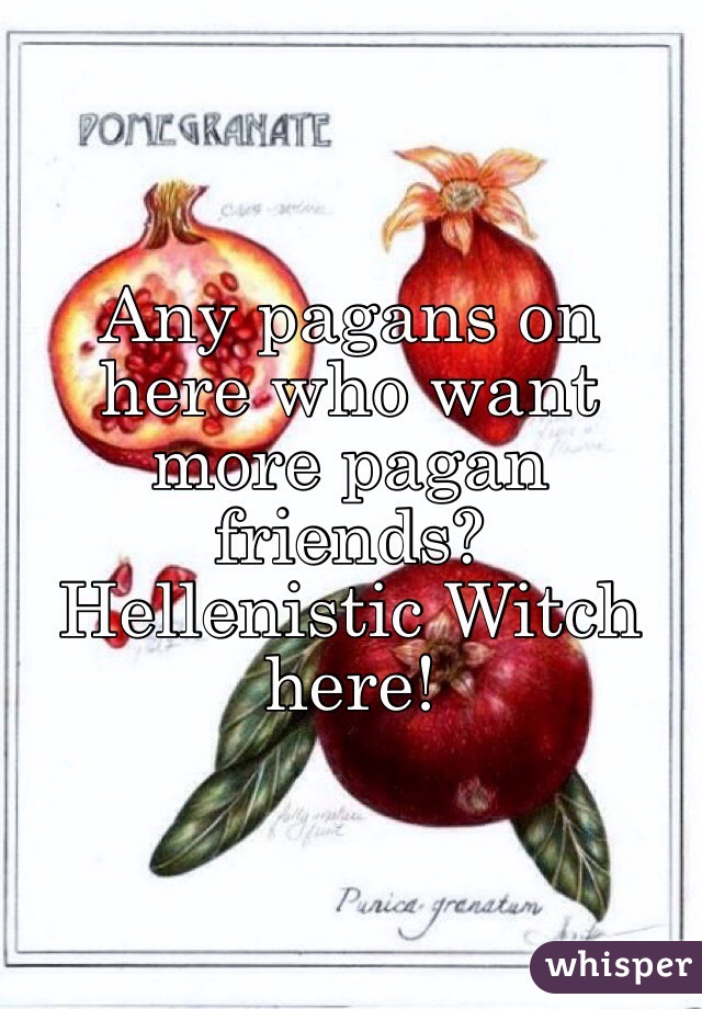 Any pagans on here who want more pagan friends?  Hellenistic Witch here!