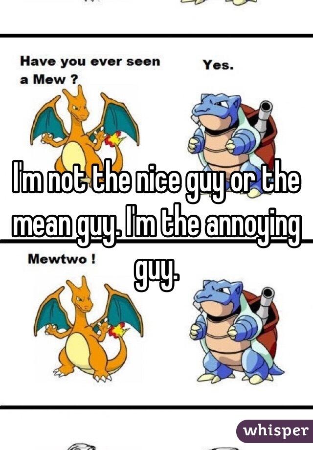 I'm not the nice guy or the mean guy. I'm the annoying guy.