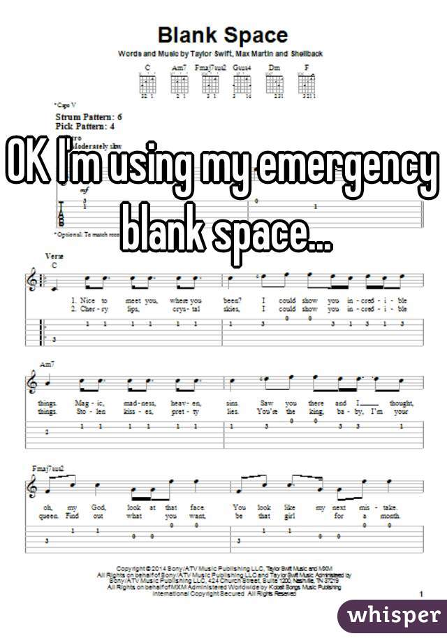 OK I'm using my emergency blank space...