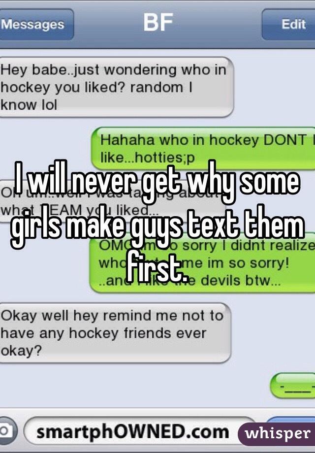 How guys text girls