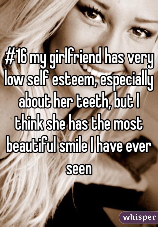 Low self esteem girlfriend