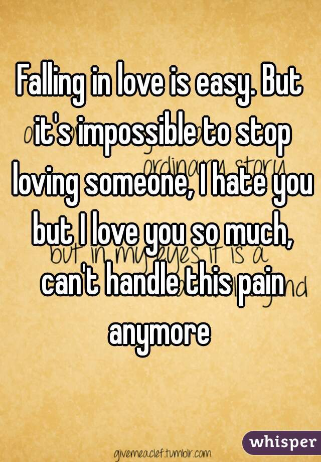 How to stop falling in love with someone