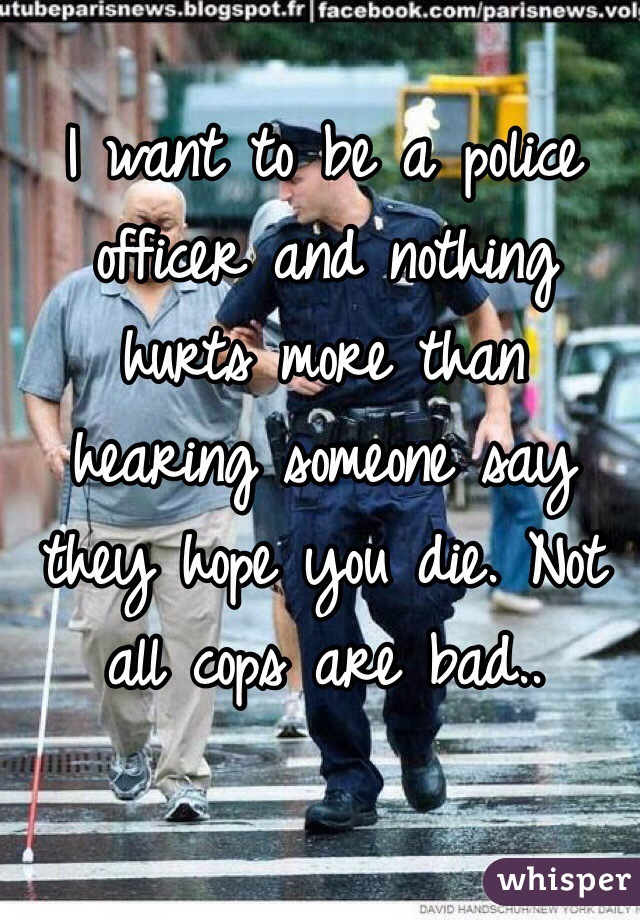 why become a police officer