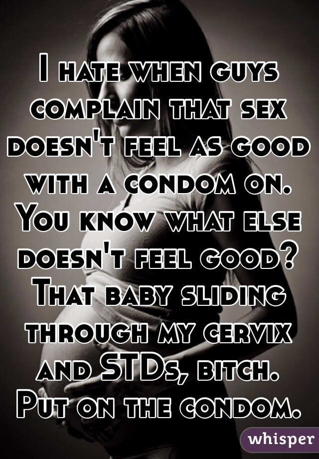 Something also sex doesn t feel good at all