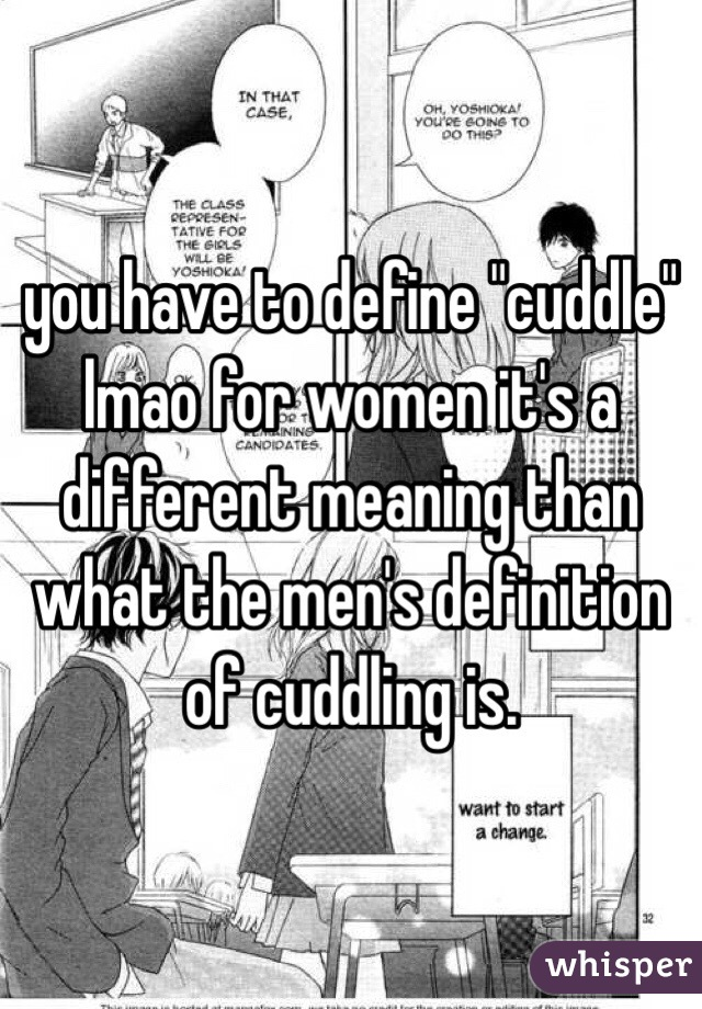 What Is The Meaning Of Cuddles