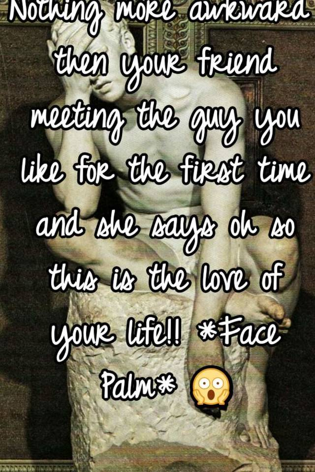 First meeting with a guy