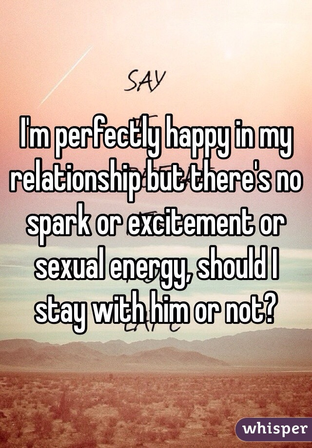 No spark in relationship