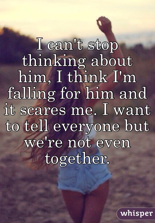 stop thinking about him