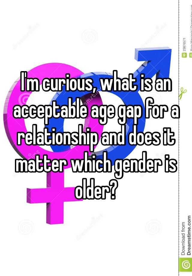 Acceptable age gap