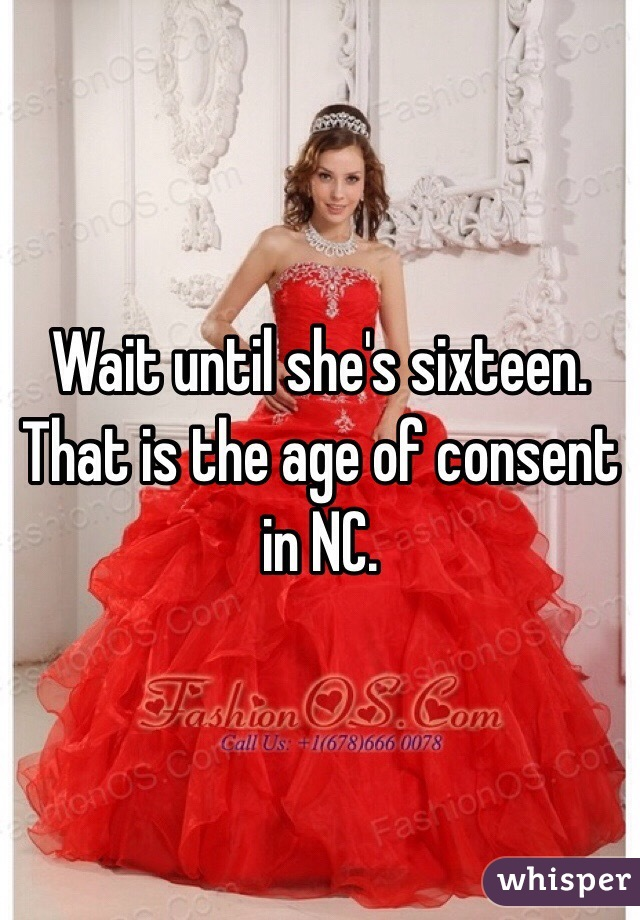 Age limit for dating in nc how old
