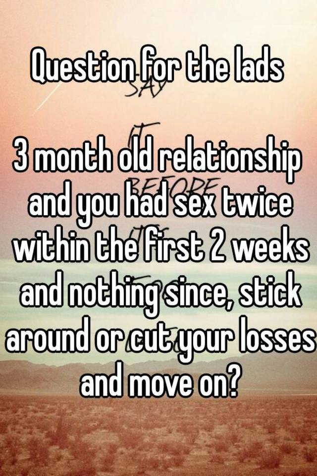 No sex for a month relationship