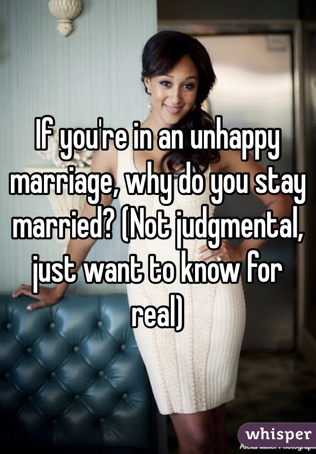 Why do unhappily married men stay married