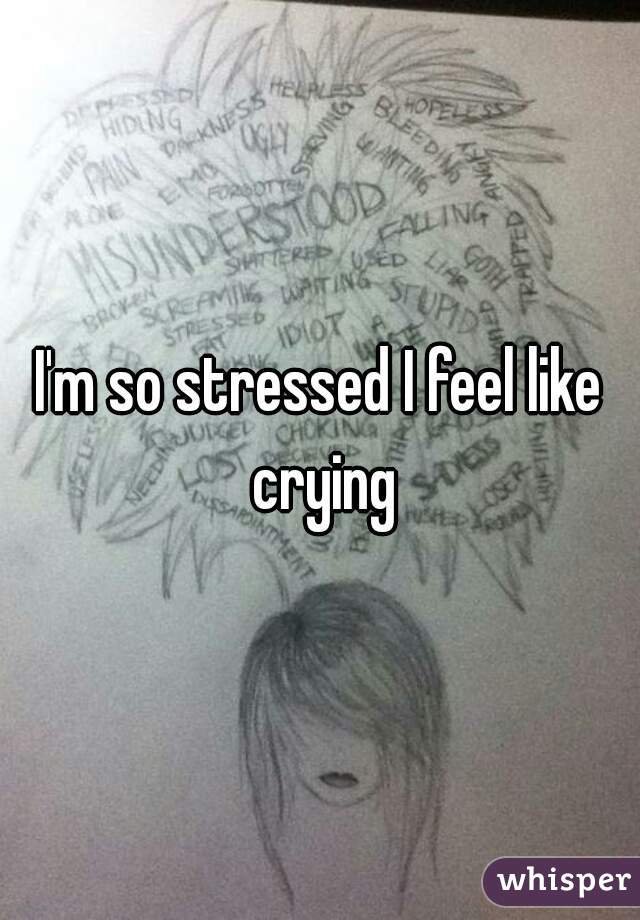 I'm so stressed I feel like crying