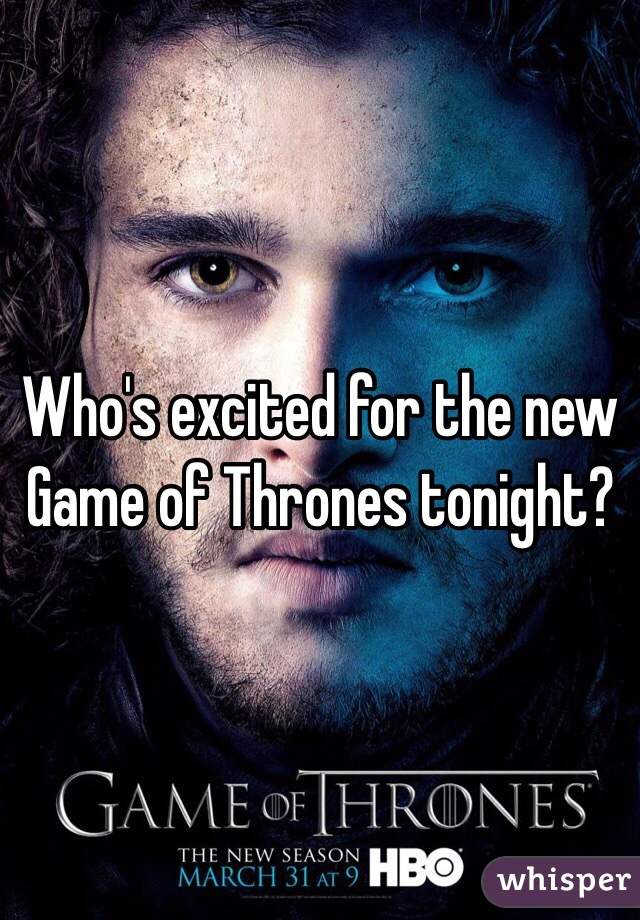 Who's excited for the new Game of Thrones tonight?