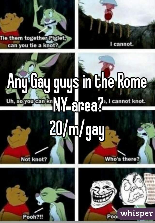 Any Gay guys in the Rome NY area? 20/m/gay