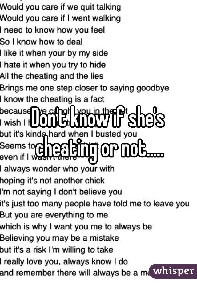 How To Know If She Is Cheating