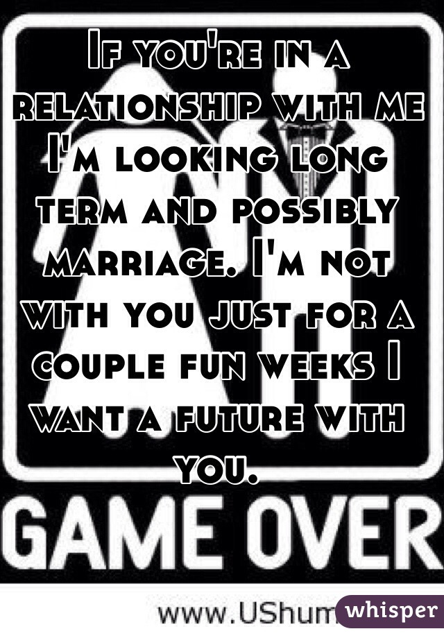 SHEREE: Long term relationship and no marriage