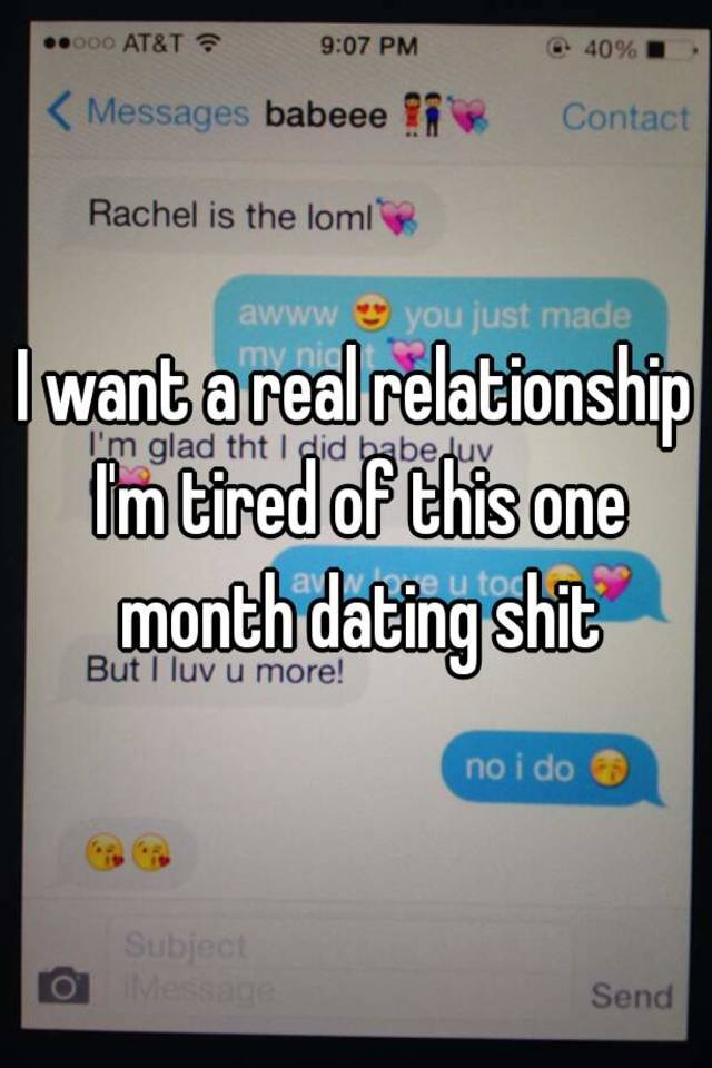 Dating In the interest of 9 Months No Relationship