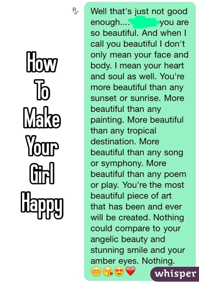 How To Make A Girl Be Happy