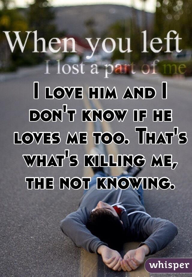 How do i tell if he loves me