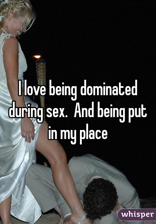Agree, i like being dominated during sex remarkable, very