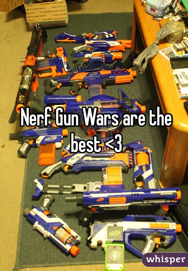 Nerf Gun Wars are the best <3